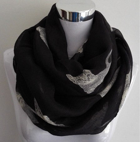 NEW Infinity Scarves - Kitty Infinity Scarves - Large Print