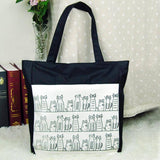 Purses And Bags - Cats On The Street Cotton Tote Bag