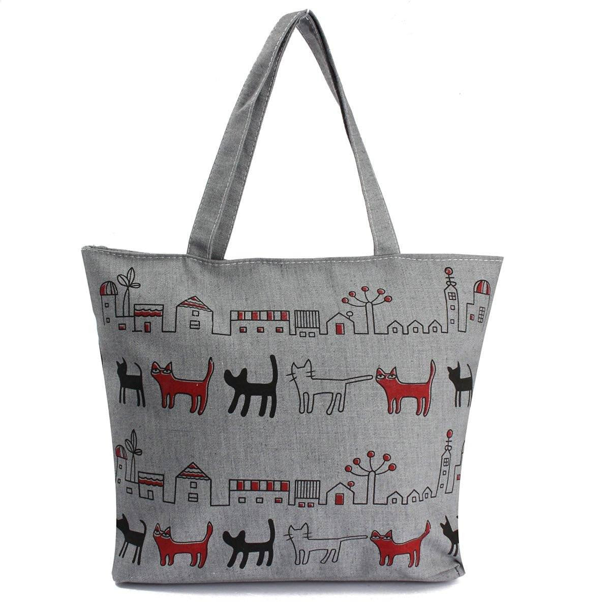 Purses And Bags - Gray Cats In Paradise Canvas Bag