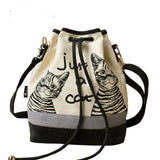 Purses And Bags - Spanish Just A Cat Canvas Handbag