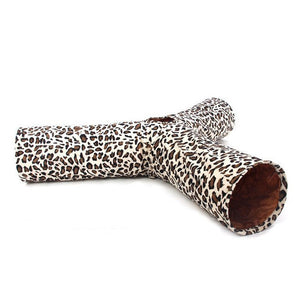 Toys - Leopard Print 3 Way Cat Tunnel