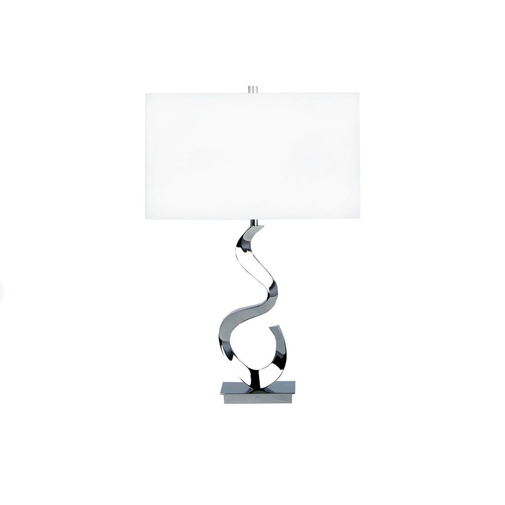 Abstract chrome Table Lamp