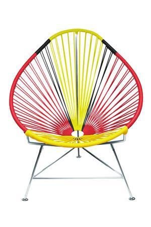 ... Outdoor Lounge Chair Germany Weave On Chrome Frame Acapulco Chair On  Chrome Frame ...