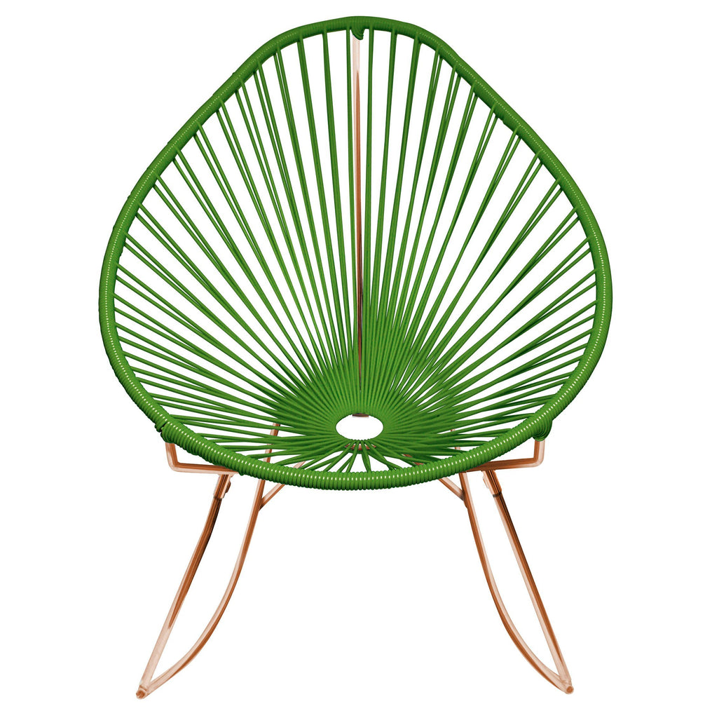 Outdoor Lounge Chair Cactus Weave on Copper Frame Acapulco Rocker on Copper Frame