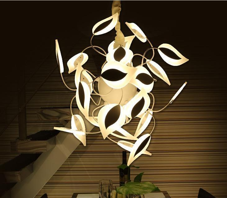 Acrylic 24 Lights Rustic Leaves Pendant Lamp at Lifeix Design