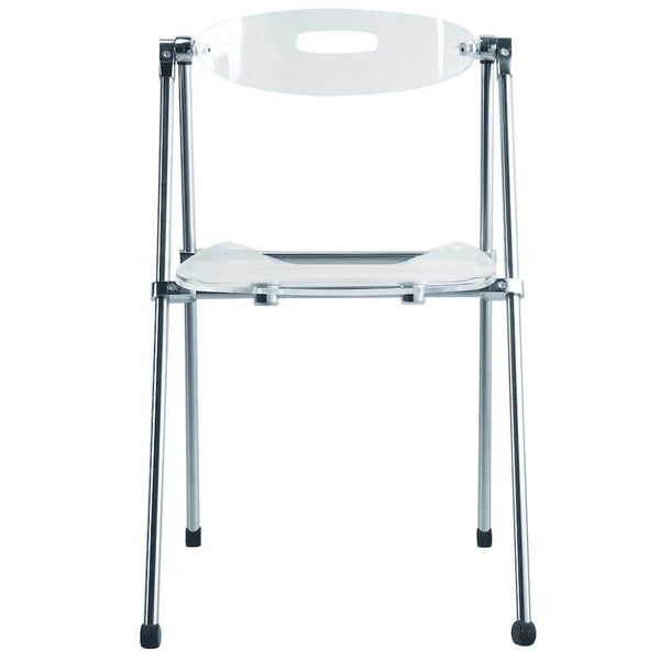 Clear Acrylic Folding Chair