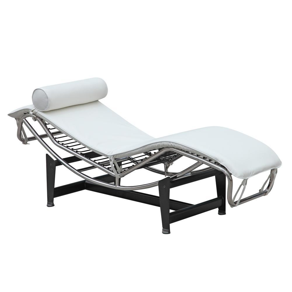 White Adjustable Chaise