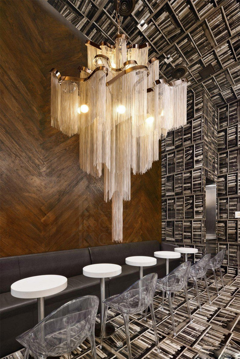 Buy aluminum tassel atlantis stream pendant light chandelier at aluminum tassel atlantis stream pendant light chandelier arubaitofo Choice Image
