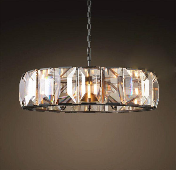 American Retro Style LED Chandelier - Nordic Luxury Lamp at Lifeix Design