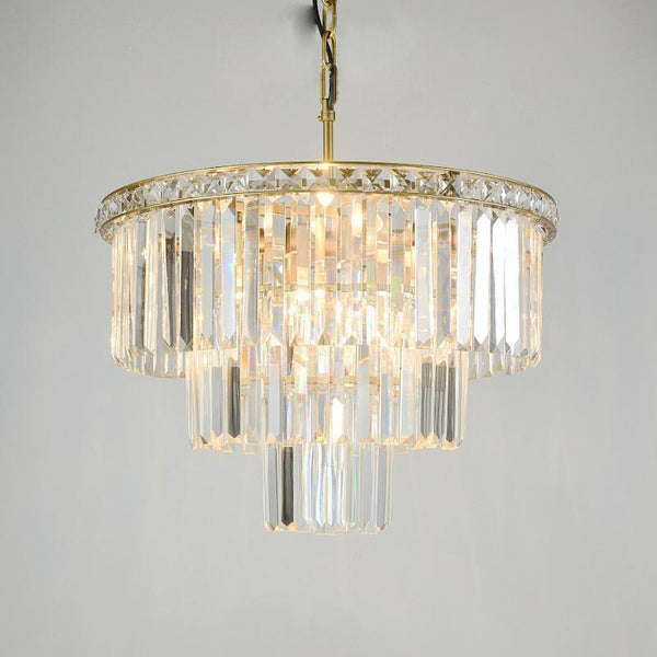American Style Crystal Chandelier - Retro Multi-Layer Crystal Lamp at Lifeix Design