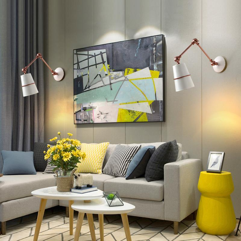 American Style Retractable Long Arm Wall Lamp at Lifeix Design