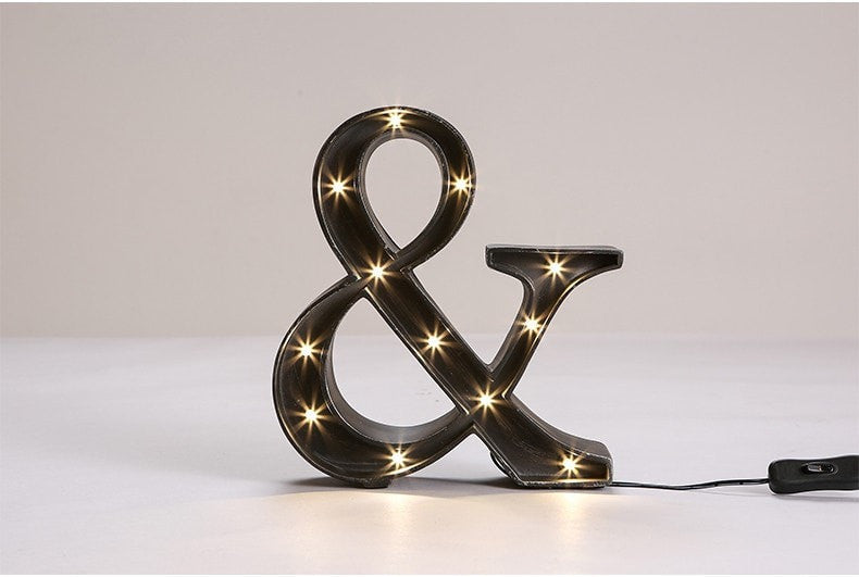 table lamp AND Sign Industrial Style LED Table Lamp