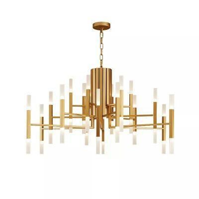 Art Deco Metal Sticks Modern Pendant Light at Lifeix Design