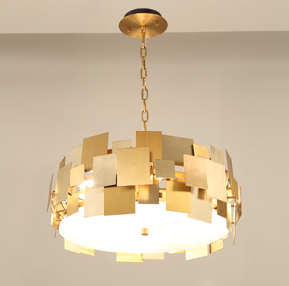 Asymmetrical Square Pendant Light - Rotating Stainless Steel Ceiling Lamp at Lifeix Design
