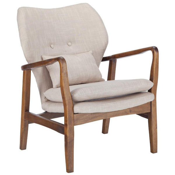 Chairs Beige Atreya Chair with Walnut wood