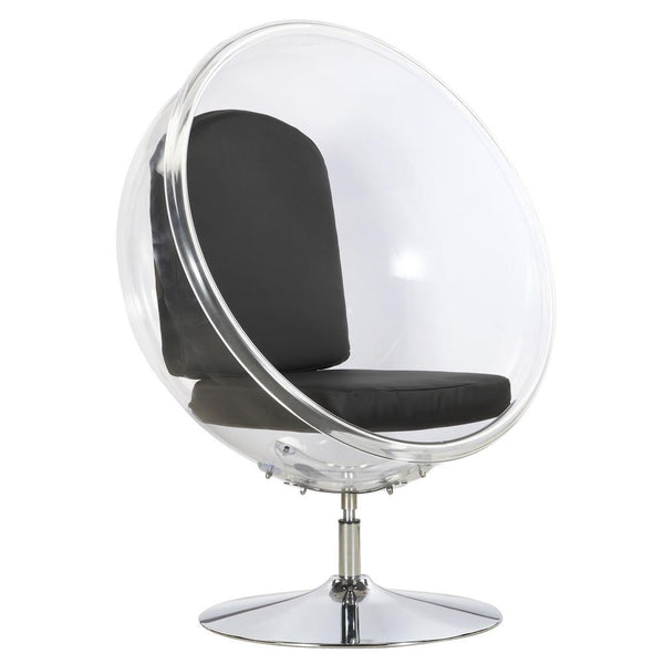 Black Ball Acrylic Chair