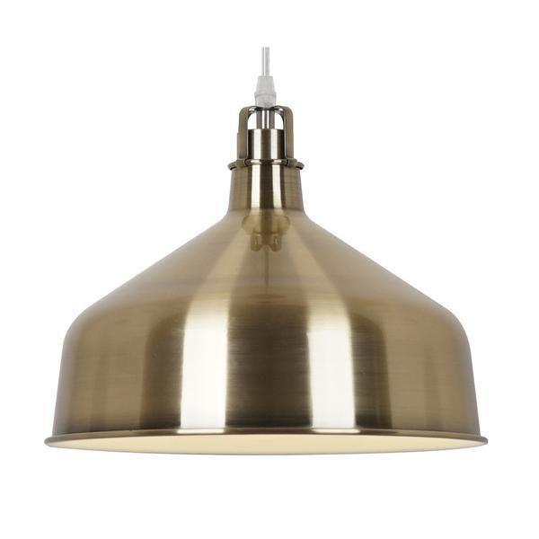 Satin Brass / Single Banbury Pendant Lamp