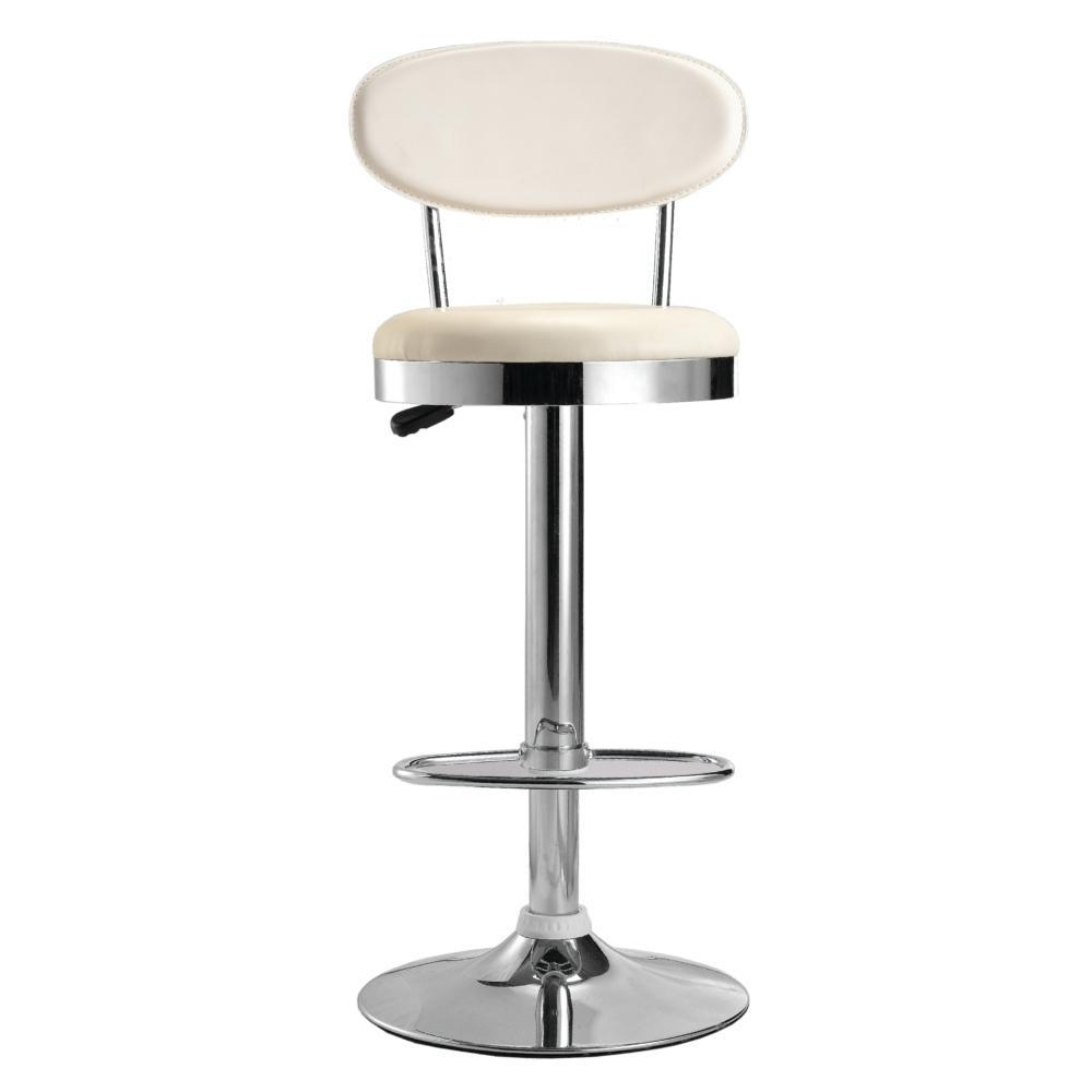 White Beer Bar Stool Chair