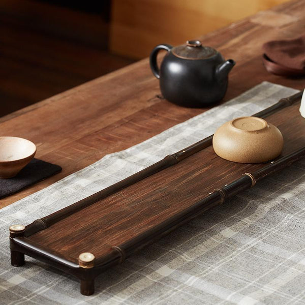 Black bamboo Tea tray Coffee Serving Tray at Lifeix Design