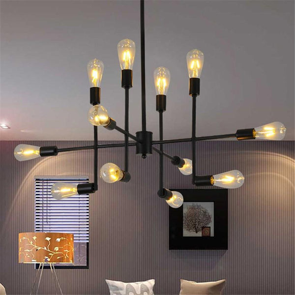 Black Metal Industrial Retro Pendant Light at Lifeix Design