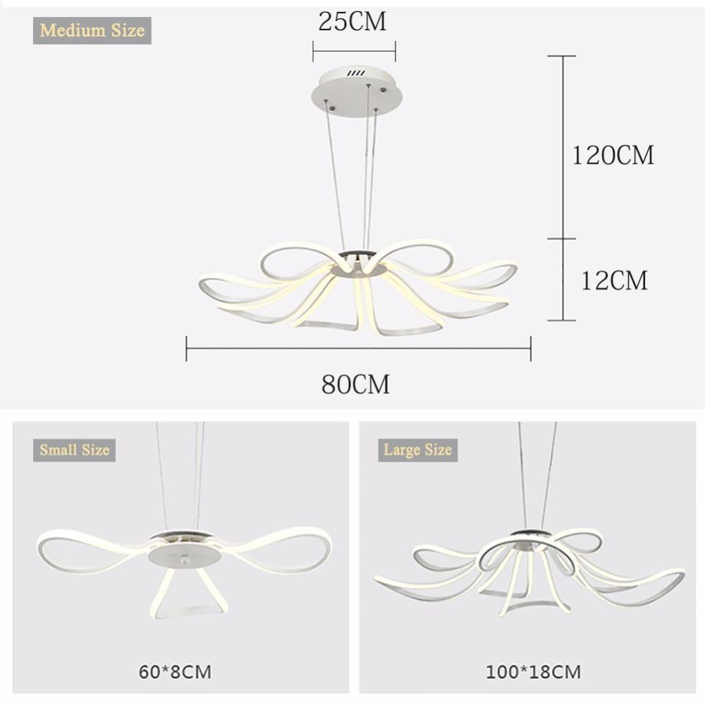 Buy Blooming Flower Pendant Light Hollow Floral Led Chandelier