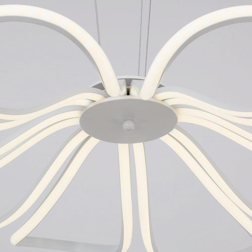 Blooming Flower Pendant Light - Hollow Floral LED Chandelier at Lifeix Design