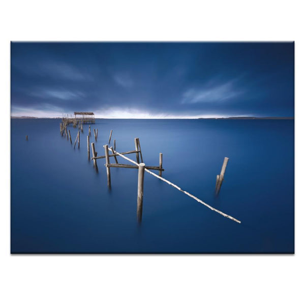 Blue Pier Photograph Artwork Home Decor Wall Art at Lifeix Design