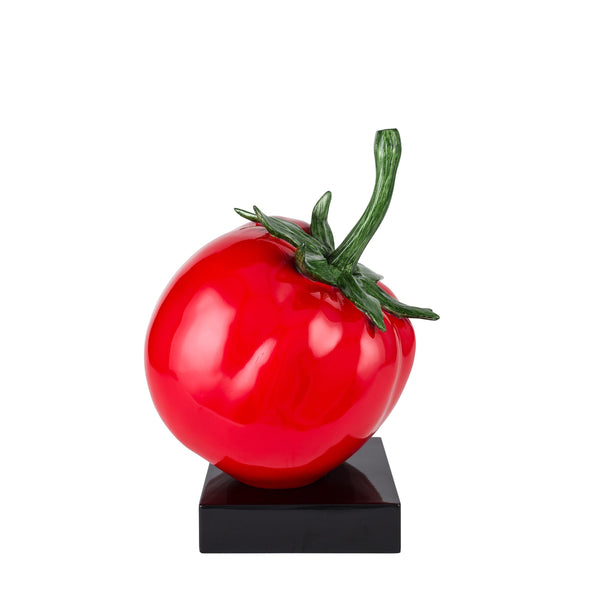 Bright Red Tomatoe- Resin Sculpture
