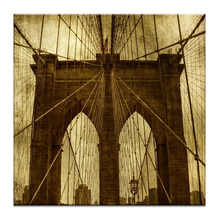 "Artwork 16x16x1.5"" Brooklyn Bridge Artwork by Andrew Paranavitana"