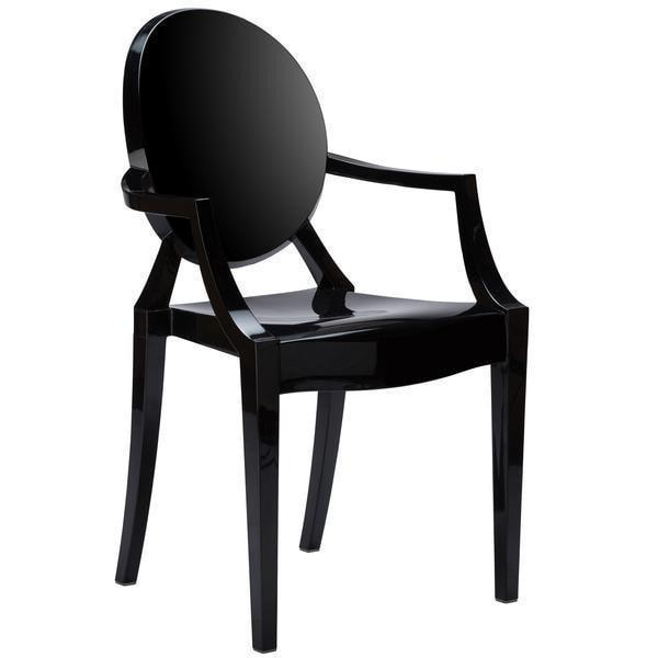 Dining Chair Black / Single Burton Arm Chair In Black