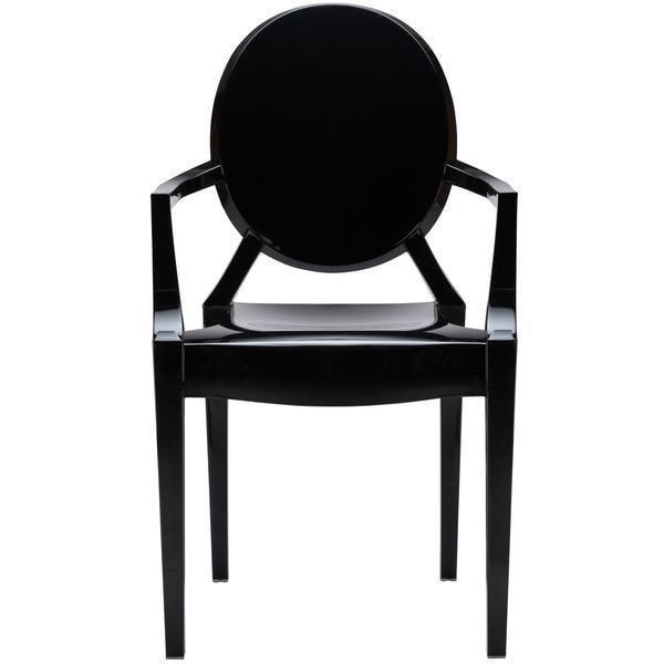 Dining Chair Burton Arm Chair In Black