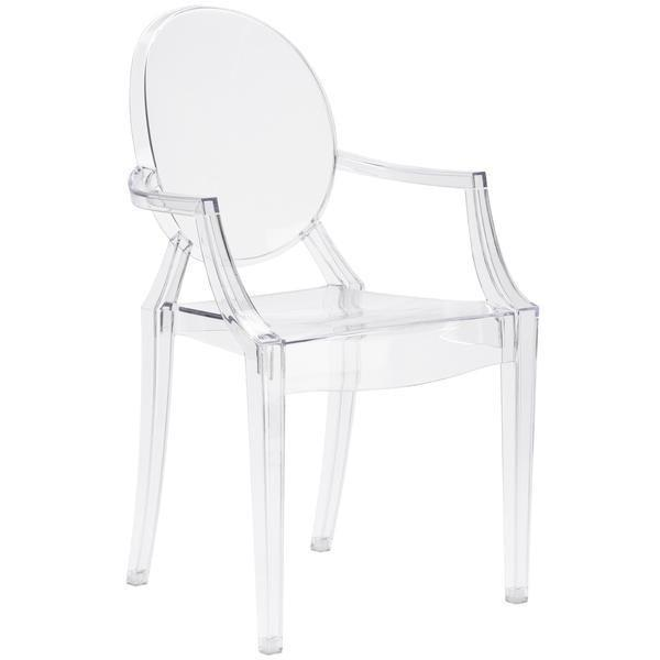 Dining Chair Clear / Single Burton Arm Chair In Clear