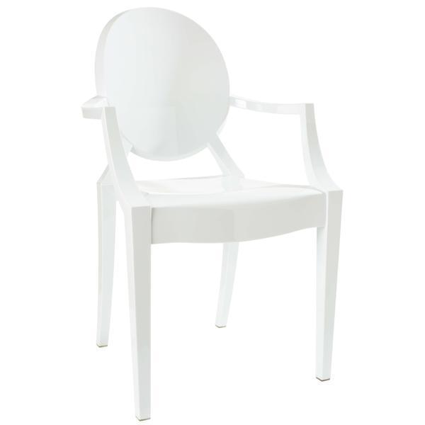 Dining Chair White / Single Burton Arm Chair In White