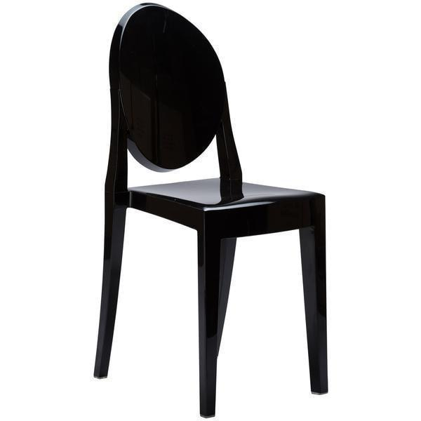 Dining Chair Black / Single Burton Side Chair In Black