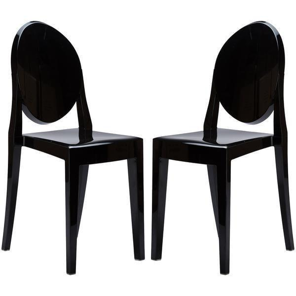 Dining Chair Black / Set of 2 Burton Side Chair In Black