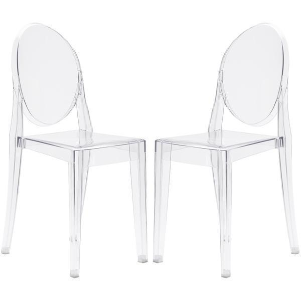 Dining Chair Clear / Set Of 2 Burton Side Chair In Clear