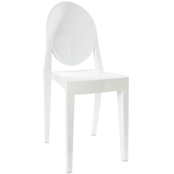 Dining Chair White / Single Burton Side Chair In White