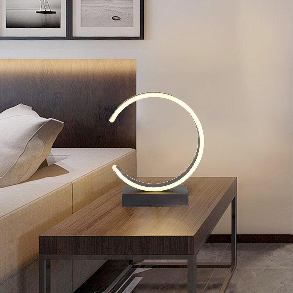 C-Shaped LED Table Lamp - Modern Desk Lamp, Makeup Lighting at Lifeix Design