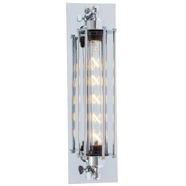 Wall Sconce Chrome Caged Sconc