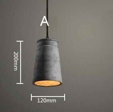 Cement block vintage pendant droplight indoor lighting cement block vintage pendant droplight indoor lighting at lifeix design mozeypictures Choice Image