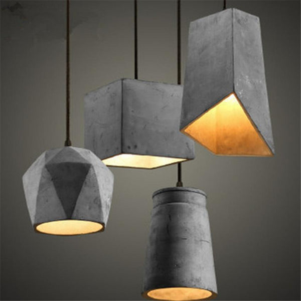 Cement Industrial Style Pendant Light at Lifeix Design