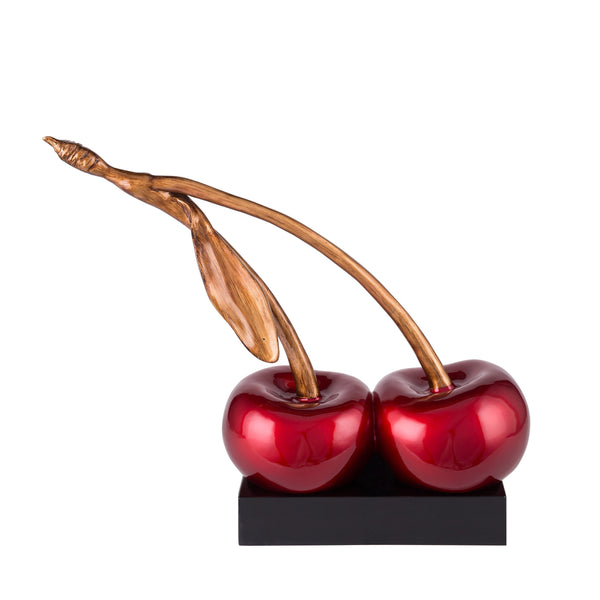 Cherry On Top- Metallic Red- Resin Sculpture