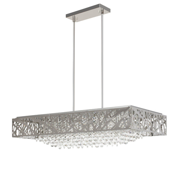 Chrome and Crystal- Square Chandelier