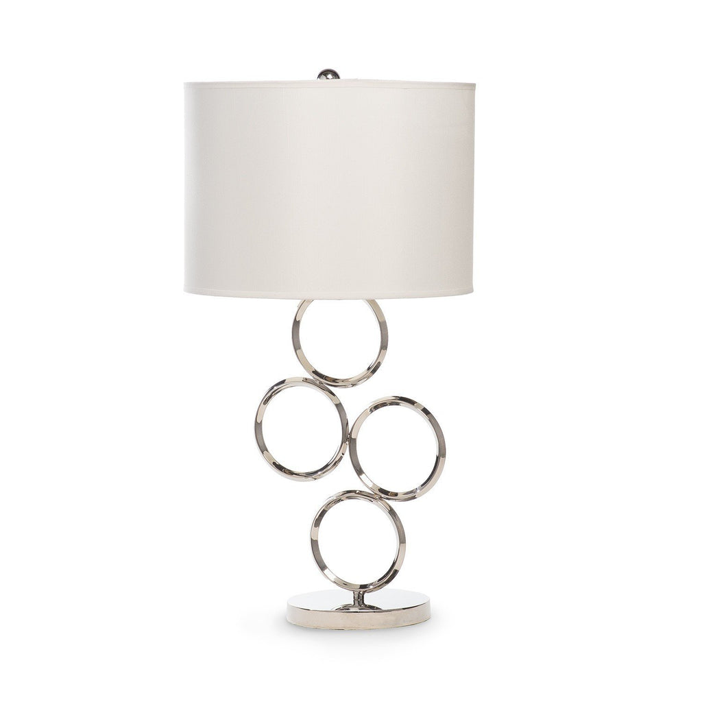 Chrome Circle- 3 Brighness Settings- Table Lamp