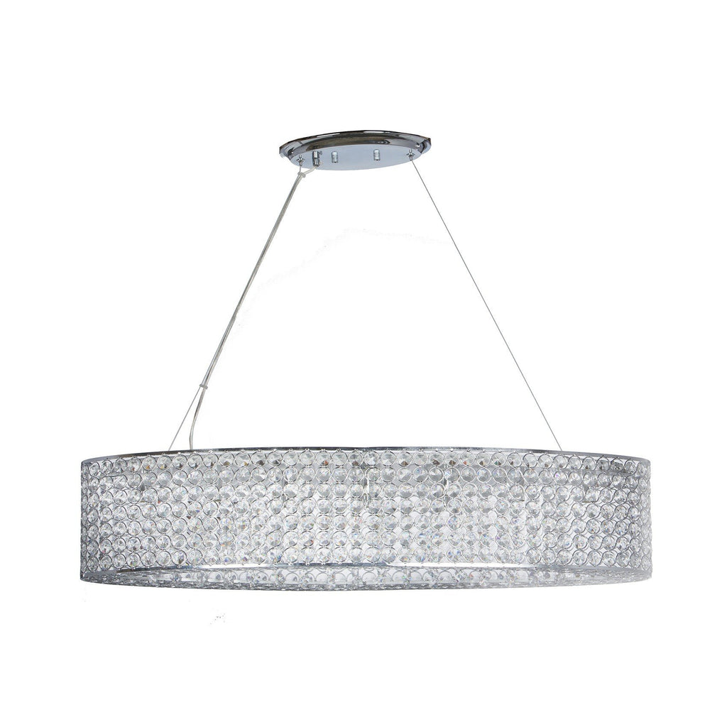 Chrome Crystal Circles- Oval Shaped Chandelier
