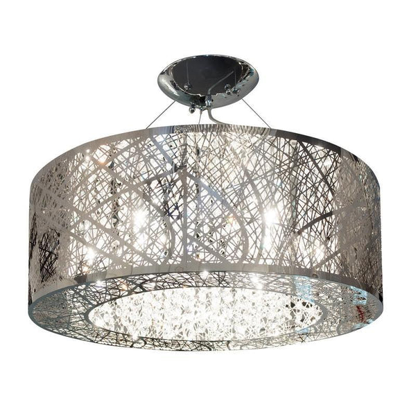 Chrome & Crystal Suaree - Circular Chandelier