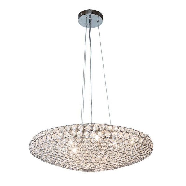 Chrome Cyrstal circles- Pendant Shaped chandelier
