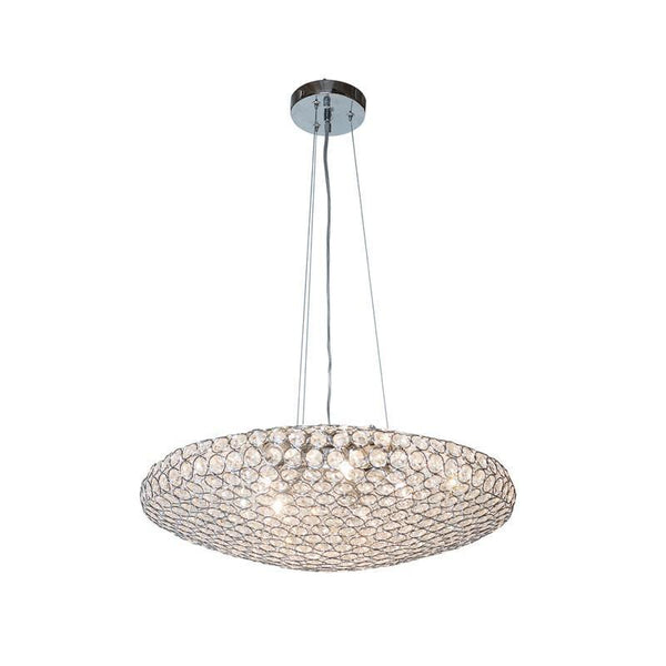 Chrome Cyrstal circles- Pendant Shaped Petit chandelier
