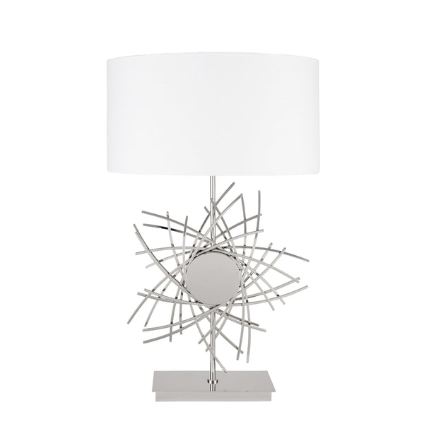 Chrome Spiral Star- 3 Brightness Settings- Table Lamp