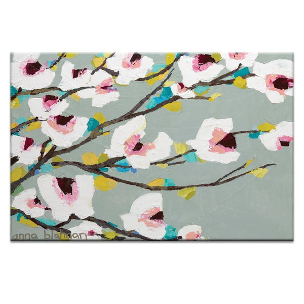 "Artwork 20x30x1.5"" Chunky Magnolia  Artwork by Anna Blatman"